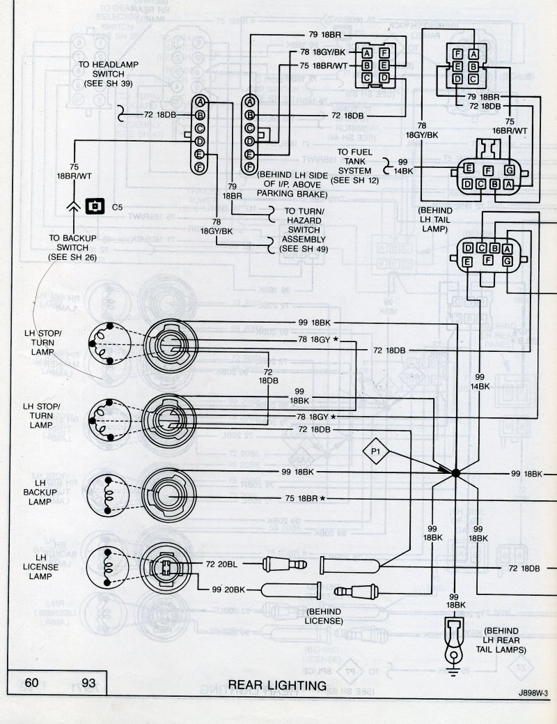 88 jeep comanche wiring diagram