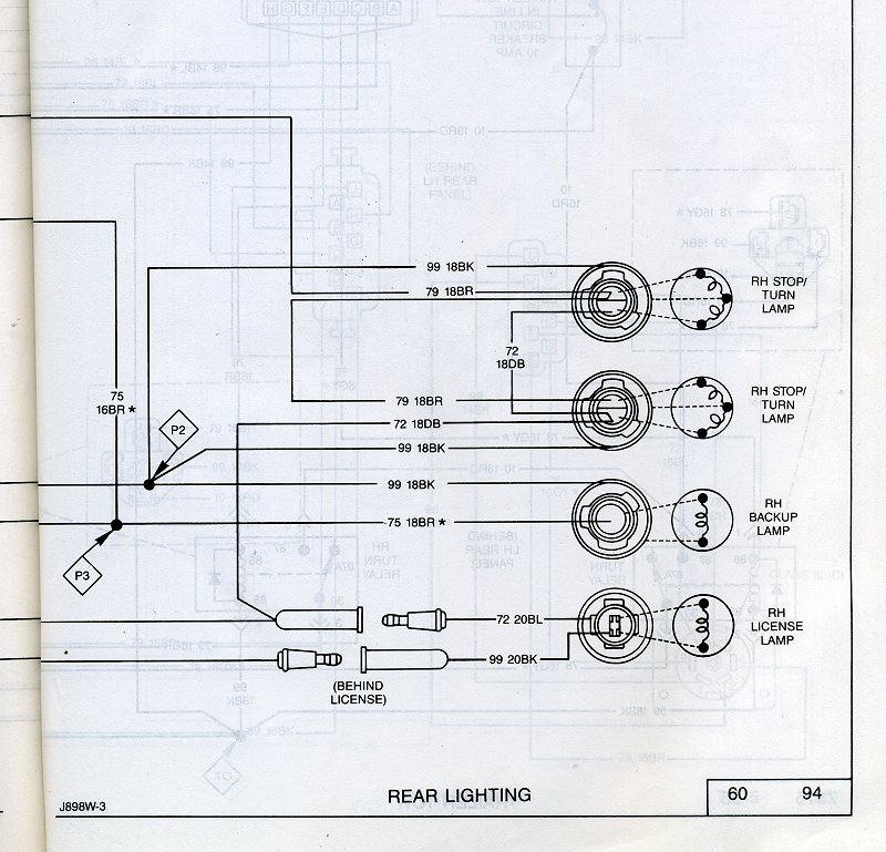jeep comanche tail light wiring diagram   39 wiring